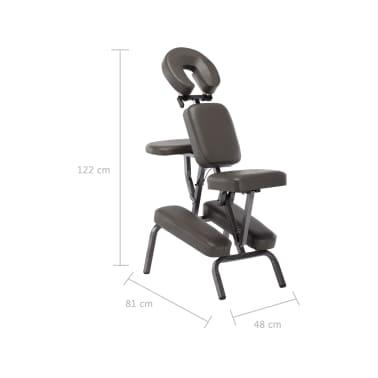 vidaXL Fotel do masażu, sztuczna skóra, antracytowy, 122x81x48 cm[9/9]