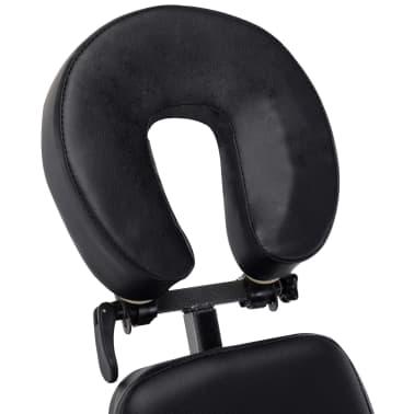 vidaXL Scaun de masaj, negru, 122x81x48 cm, piele ecologică[6/9]