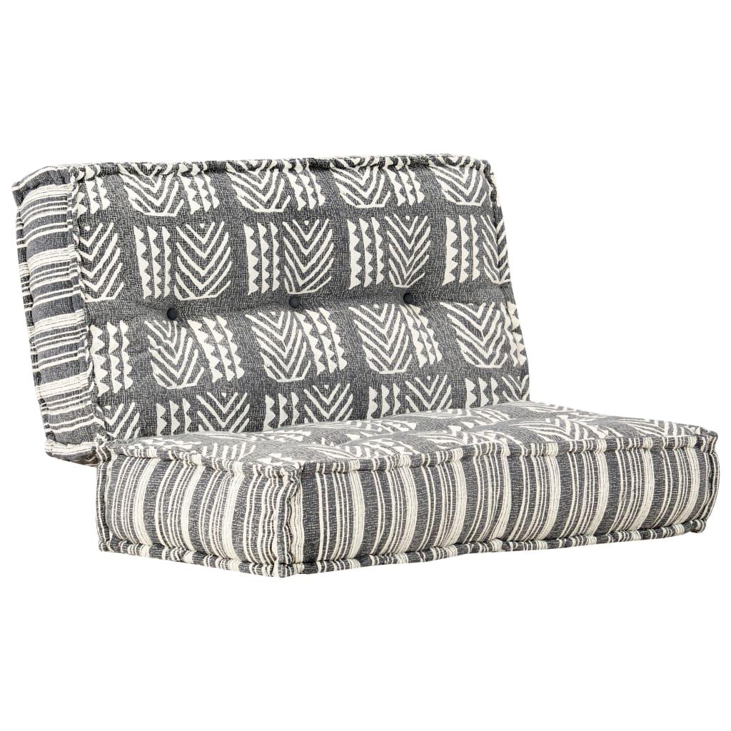 vidaXL Sofa, 120x120x20 cm, tkanina, płótno z nadrukiem
