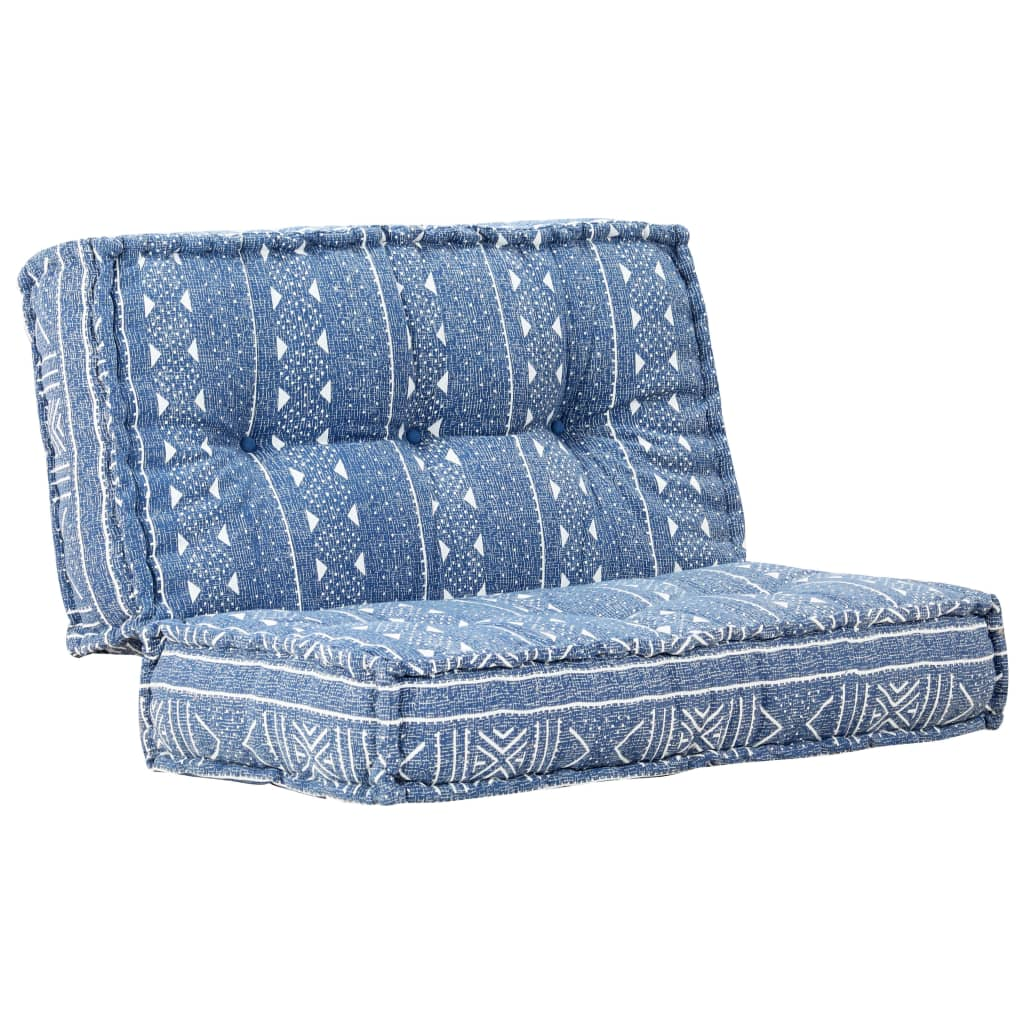 vidaXL Sofa, 120x120x20 cm, tkanina, indygo
