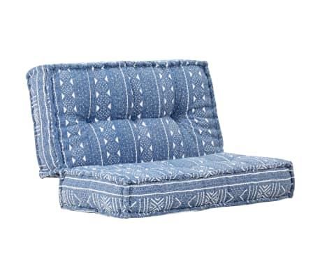 vidaXL Sofá 120x120x20 cm tecido azul índigo