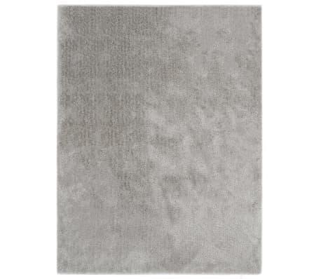 vidaXL Shaggy Area Rug 80x150 cm Grey