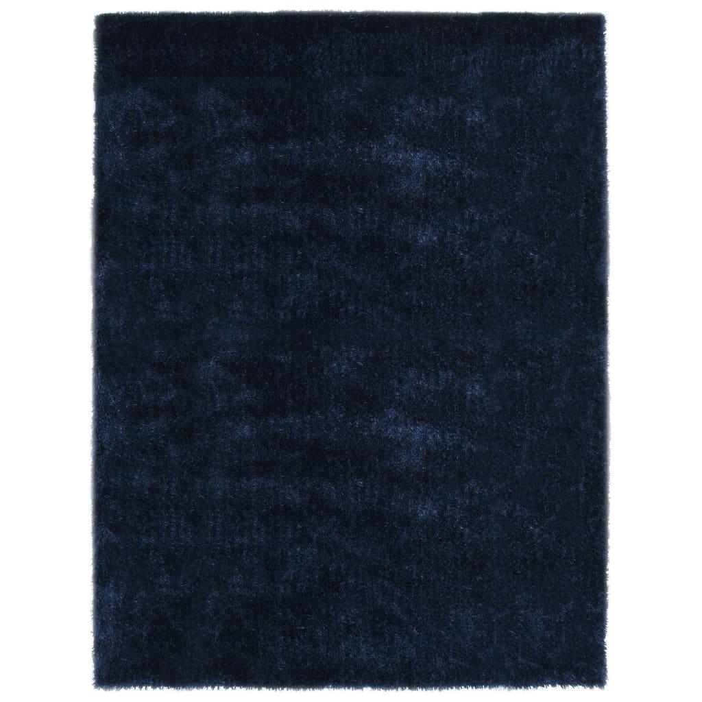 vidaXL Covor cu fir lung, albastru, 80 x 150 cm poza vidaxl.ro