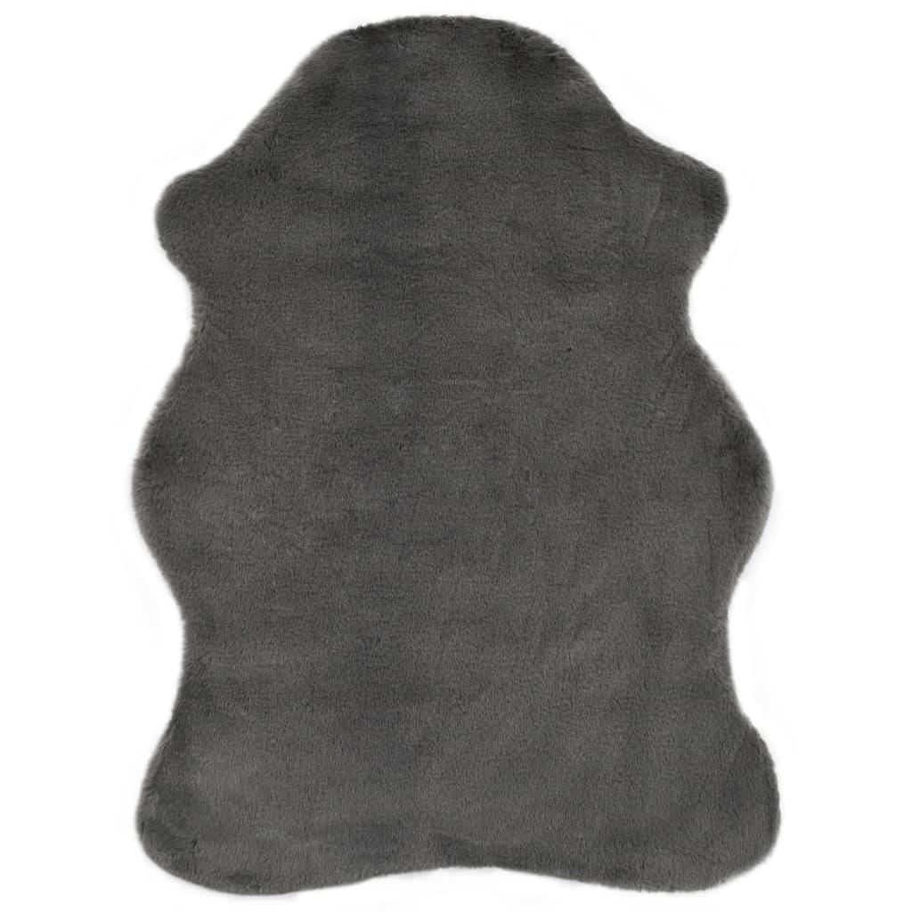 vidaXL Koberec 65 x 95 cm umělá králičí kožešina tmavě šedý