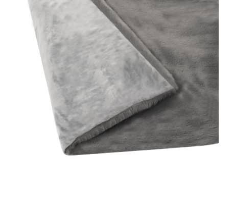 vidaXL Pläd 100x150 cm konstpäls mörkgrå[6/6]