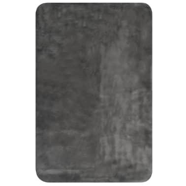 vidaXL Pläd 100x150 cm konstpäls mörkgrå[2/6]