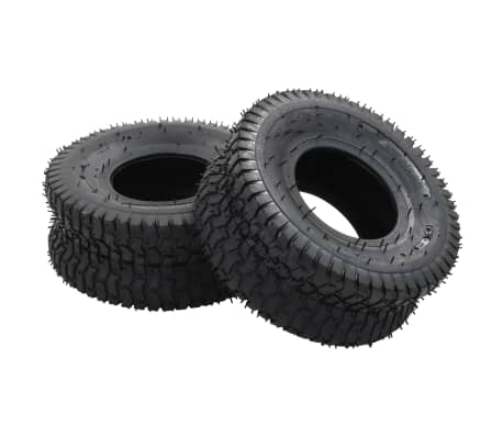 vidaXL Neumáticos para carretilla 2 unidades caucho 15x6.00-6 4PR
