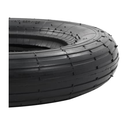 vidaXL Kruiwagenband 3.50-8 4PR rubber[4/5]