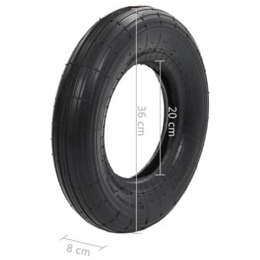 vidaXL Kruiwagenband 3.50-8 4PR rubber[5/5]