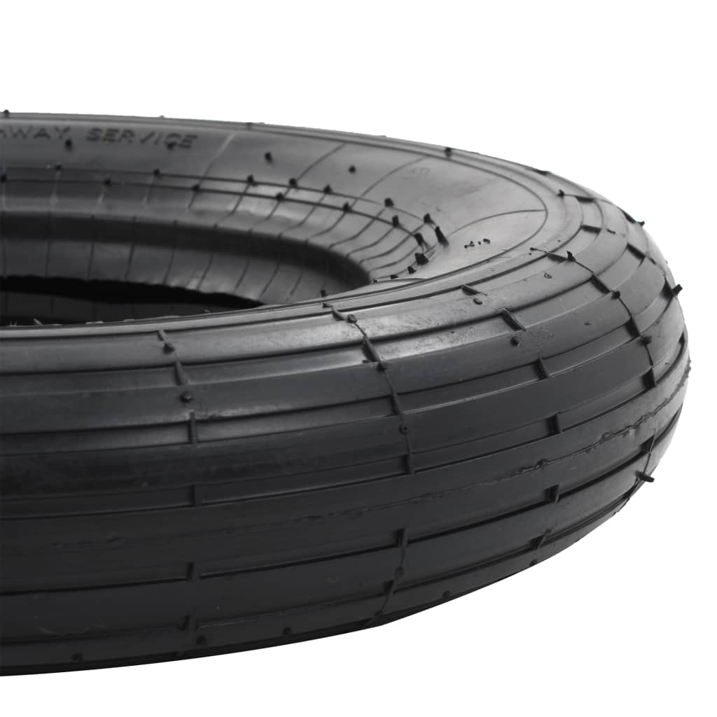 4-delige Kruiwagenbanden- en binnenbandenset 3.50-8 4PR rubber