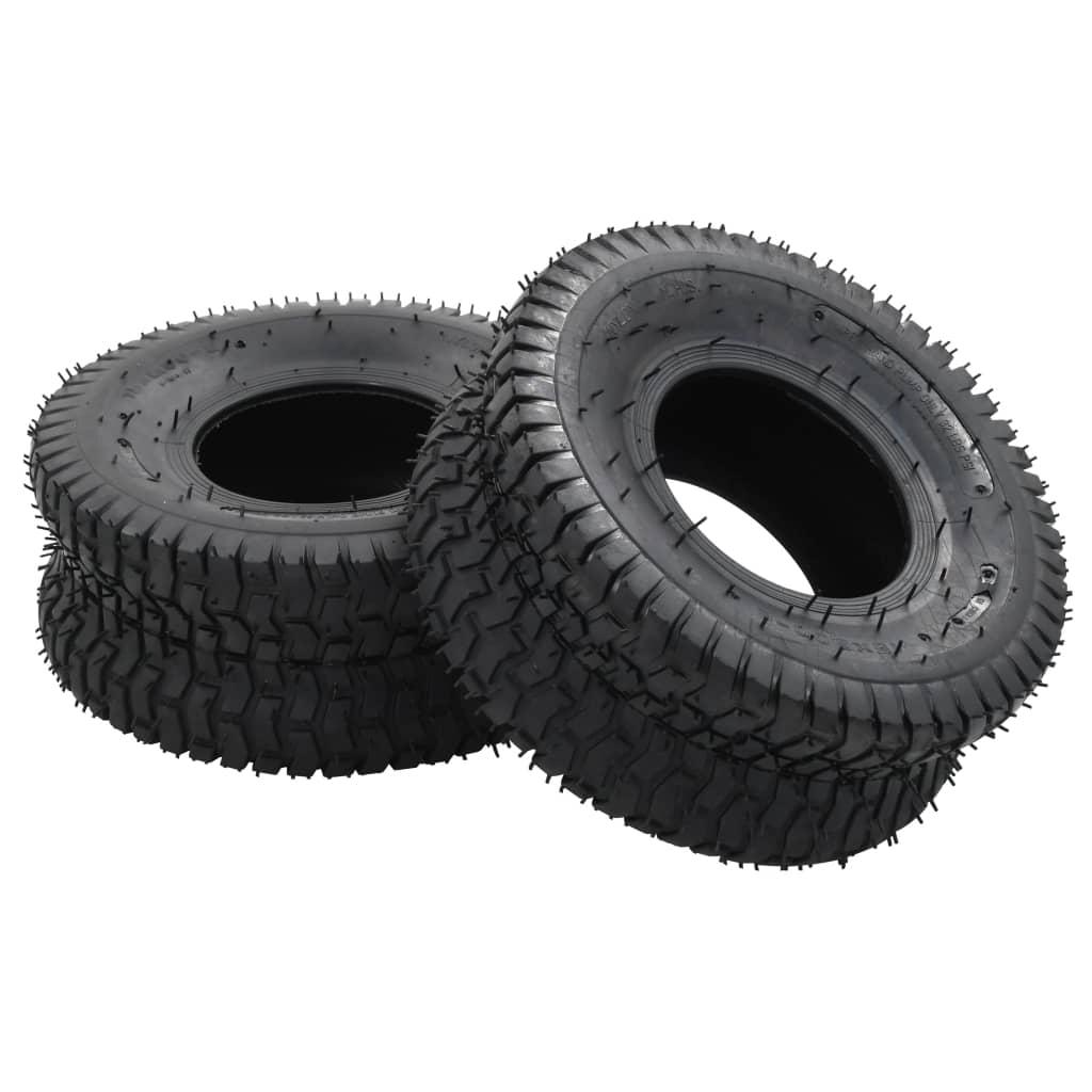 vidaXL 4dílný set plášť a duše pro kolečko 15x6.00-6 4PR guma