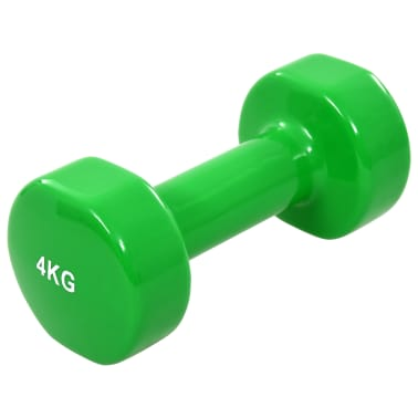vida XL Gantere, 2 buc., 8 kg, fontă, verde[2/5]