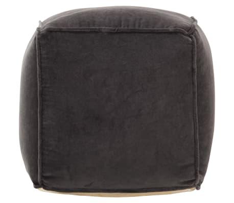 vidaXL Pufas, antracito spalvos, 40x40x40cm, medvilnės aksomas[2/4]