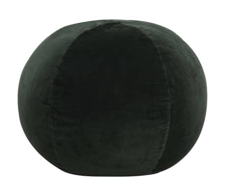 vidaXL Pufe em veludo de algodão 50x35 cm verde