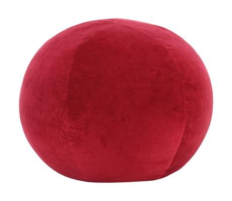 vidaXL Pufe em veludo de algodão 50x35 cm vermelho