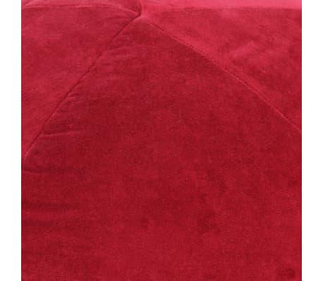 vidaXL Pouf Baumwollsamt 50×35 cm Rot[2/3]