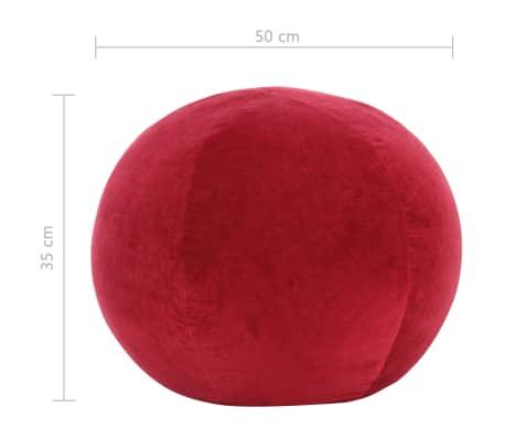 vidaXL Pouf Baumwollsamt 50×35 cm Rot[3/3]