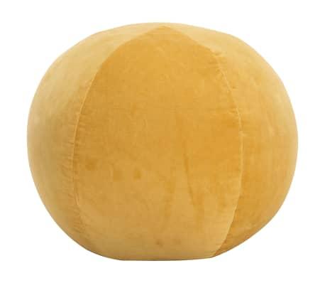 vidaXL Pufe em veludo de algodão 50x35 cm amarelo