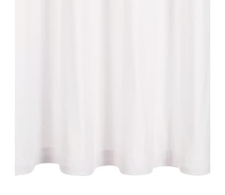 vidaXL Perdele cu inele metalice, 2 buc., alb, 140 x 225 cm, bumbac[3/4]