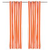 vidaXL Perdele cu inele metalice 2 buc. portocaliu 140x225 cm textil