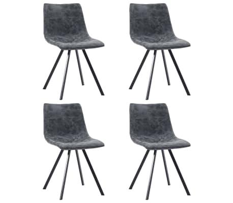 vidaXL Jídelní židle 4 ks černé umělá kůže