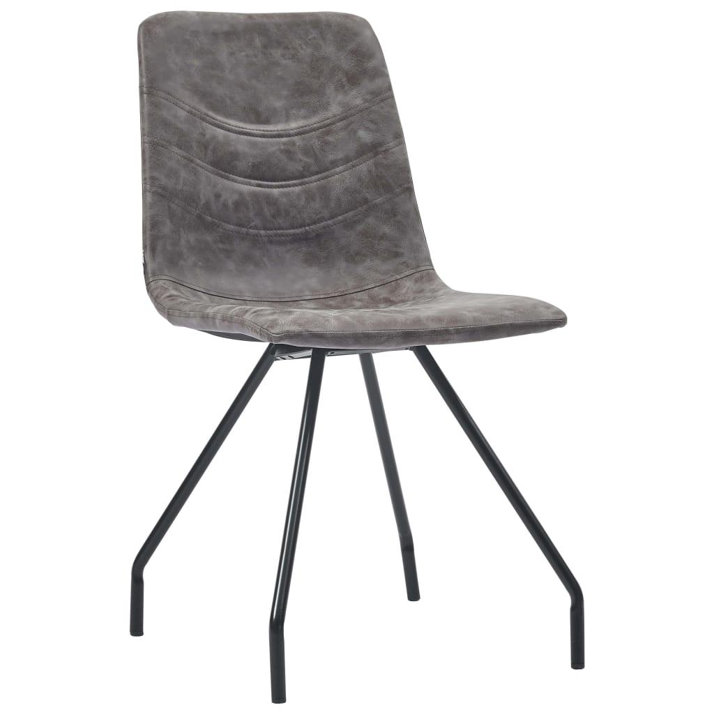 vidaXL Blagovaonske stolice od umjetne kože 4 kom tamnosmeđe