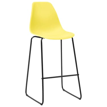 vidaXL Chaises de bar 2 pcs Jaune Plastique  
