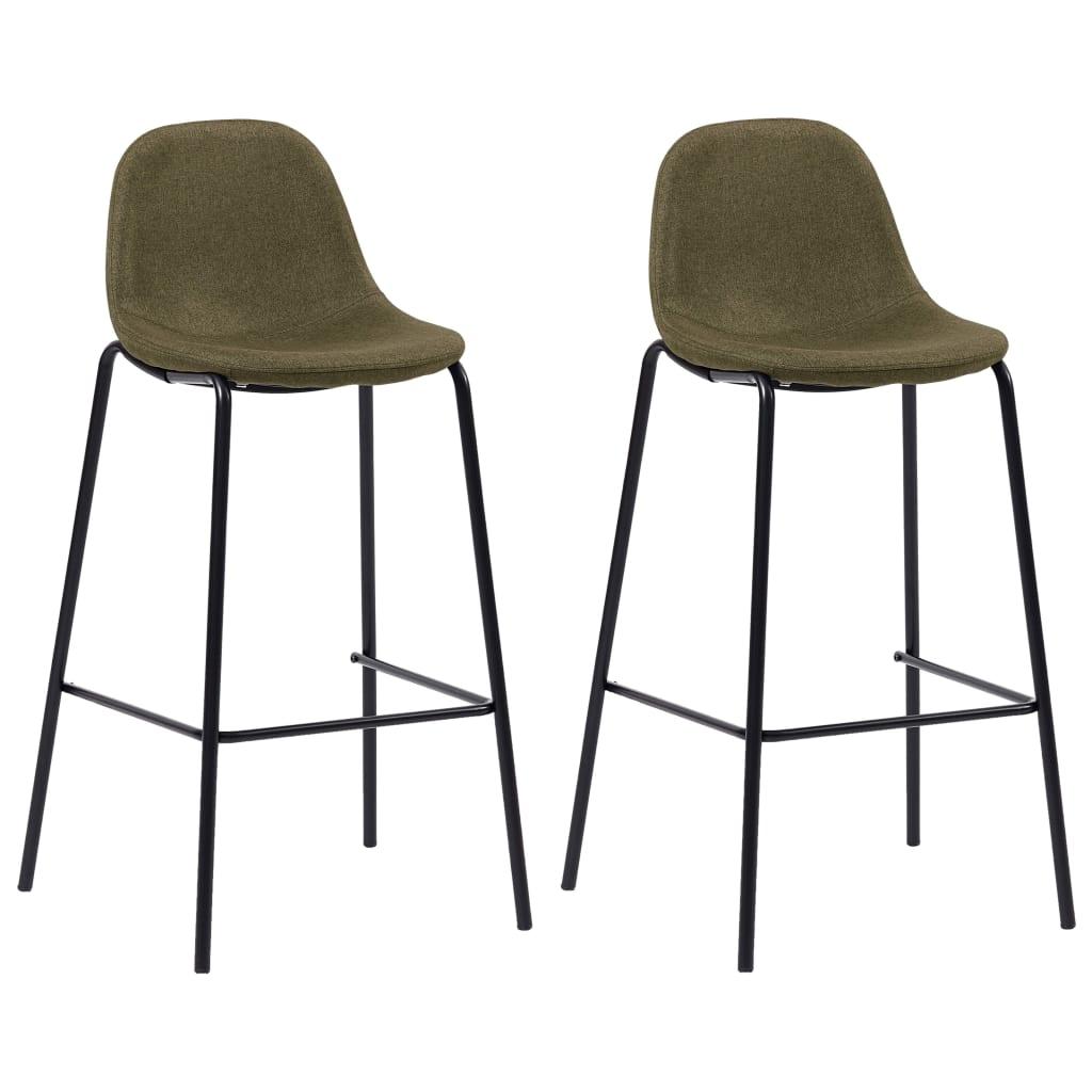 vidaXL barstole 2 stk. stof brun