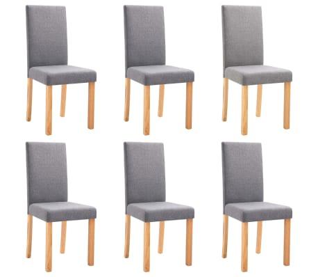 vidaXL Chaises de salle à manger 6 pcs Gris clair Tissu