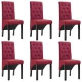 vidaXL Blagovaonske stolice od tkanine 6 kom crvena boja vina