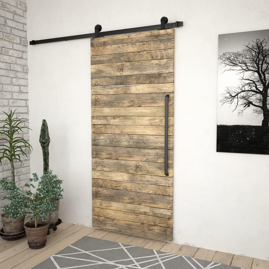 System do montażu drzwi przesuwnych, 183 cm, stal, czarny
