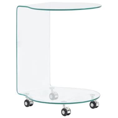 vidaXL Kavos staliukas, 45x40x58 cm, grūdintas stiklas[1/5]