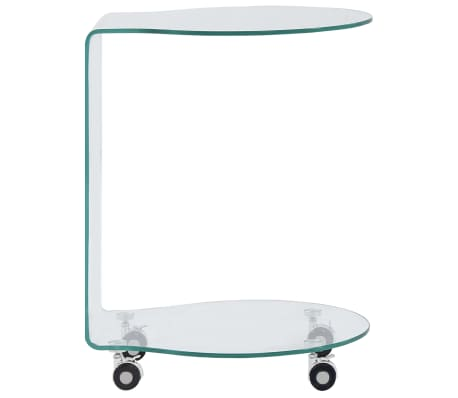 vidaXL Kavos staliukas, 45x40x58 cm, grūdintas stiklas[2/5]