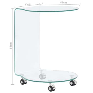 vidaXL Kavos staliukas, 45x40x58 cm, grūdintas stiklas[5/5]