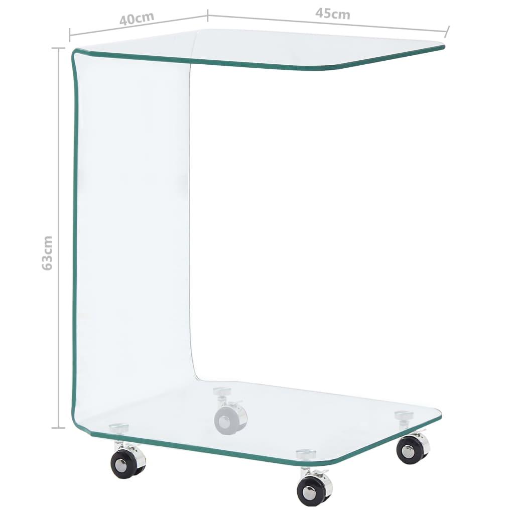vidaXL Salontafel 45x40x63 cm gehard glas