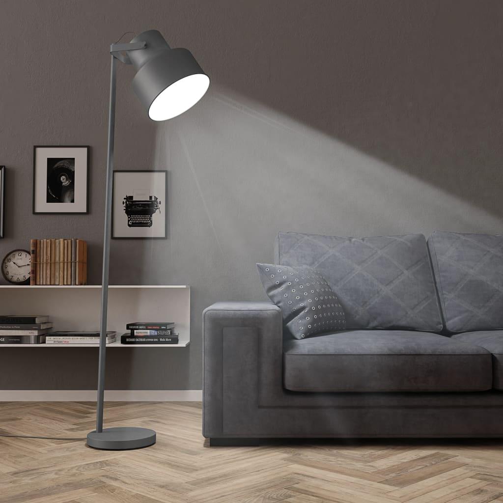vidaXL Stojací lampa kov šedá E27