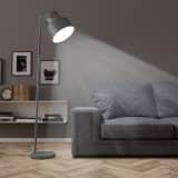 vidaXL Podna svjetiljka metalna siva E27