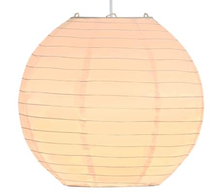 vidaXL Lampe suspendue Blanc Ø30 cm E27