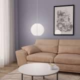 vidaXL Hanglamp E27 Ø 30 cm wit