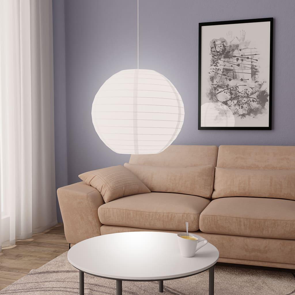 vidaXL Hanglamp E27 Ø 60 cm wit
