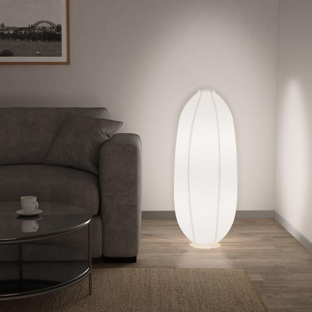 vidaXL Stojací lampa bílá E14