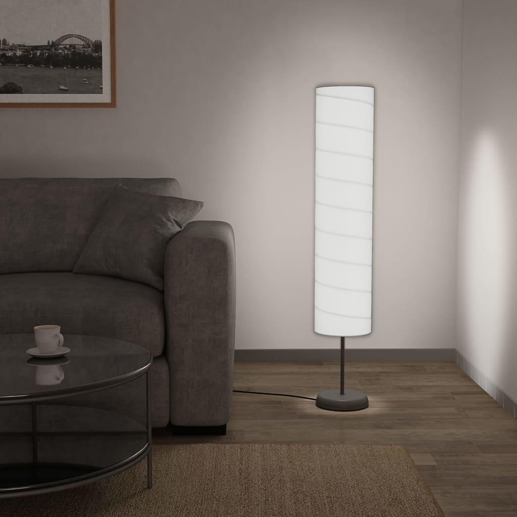 vidaXL Vloerlamp met standaard E27 121 cm wit