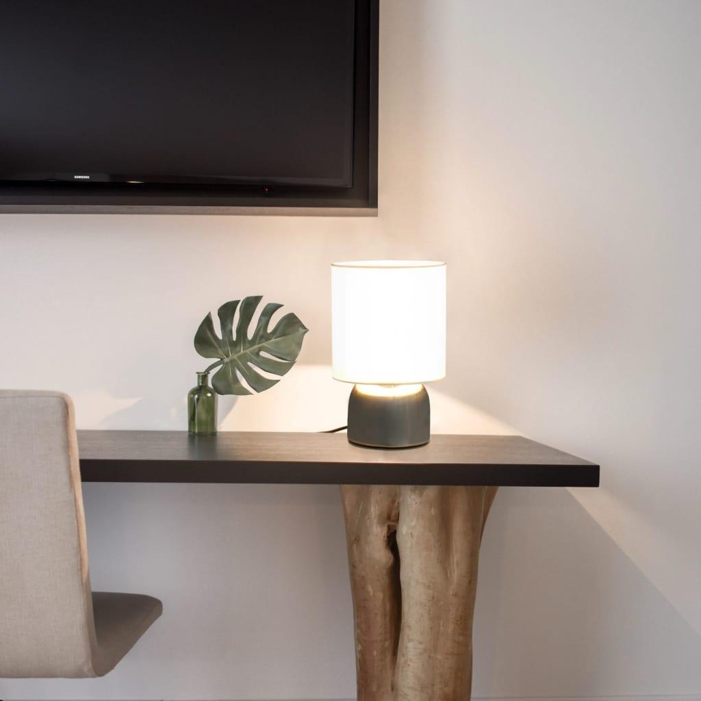 vidaXL Stolní lampy 2 ks dotykové tlačítko bílé E14