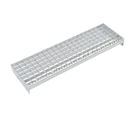 vidaXL Stair Treads 4 pcs Forge-welded Galvanised Steel 600x240 mm