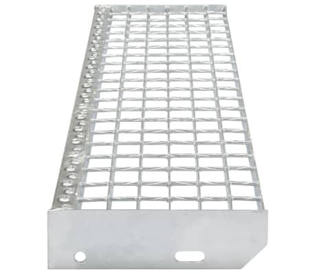 vidaXL Marches d'escalier 4 pcs Acier galvanisé forgé 700x240 mm[3/4]
