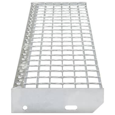vidaXL Traptreden 4 st 700x240 mm gesmeedlast gegalvaniseerd staal[3/4]