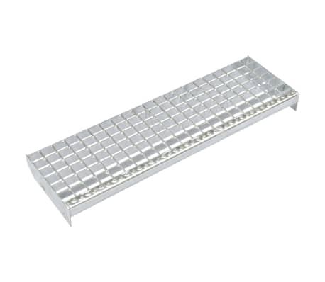 vidaXL Stair Treads 4 pcs Forge-welded Galvanised Steel 800x240 mm