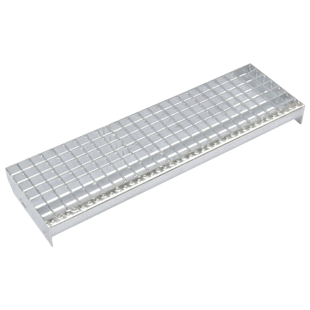 vidaXL Schodišťové stupně 4 ks slisovaná pozinkovaná ocel 600 x 240 mm