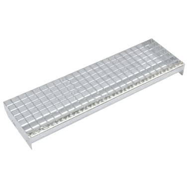 vidaXL Treppenstufen 4 Stk. Pressroste Verzinkter Stahl 600 x 240 mm[1/4]