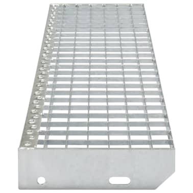 vidaXL Treppenstufen 4 Stk. Pressroste Verzinkter Stahl 600 x 240 mm[3/4]